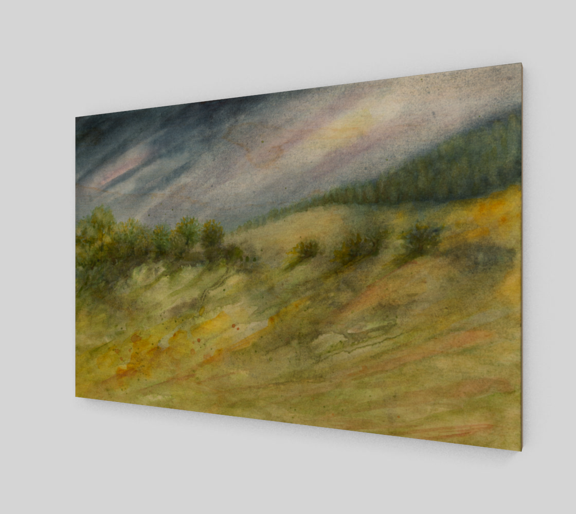 Aperçu de Precious Green Watercolor Landscape