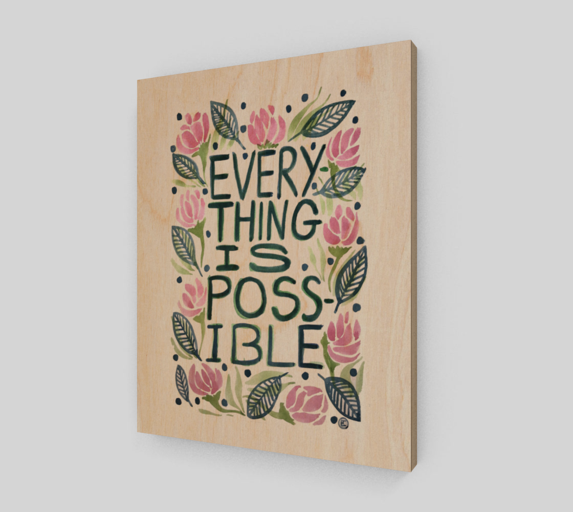 EVERYthing is POSSIBLE -print preview