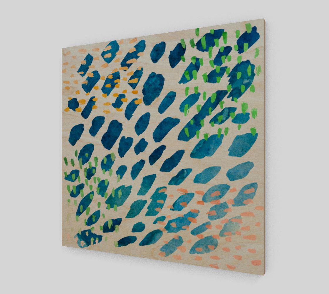 Under The Sea Watercolor Abstract Canvas preview