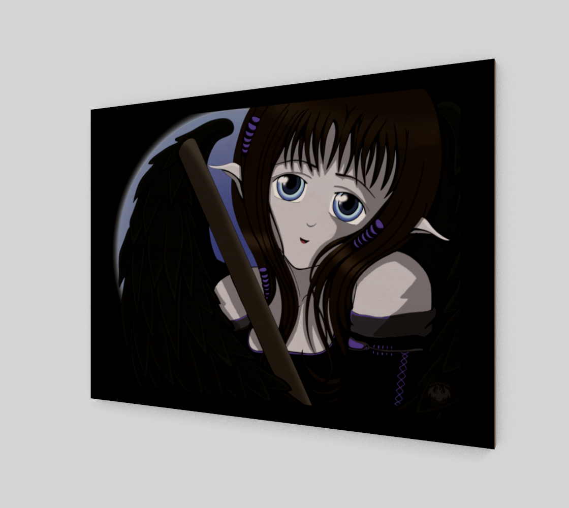 Gothic Angel Purple / Canvas Only preview #2