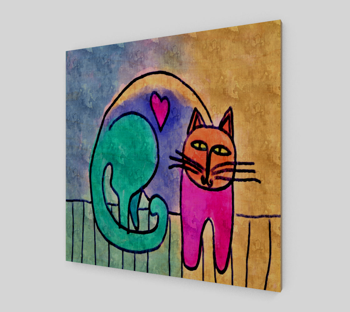 Kitty Love Abstract Digital Print on Canvas preview