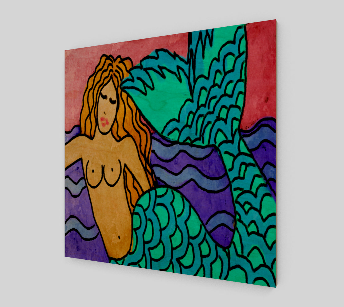 Colorful Abstract Mermaid Painting Print preview