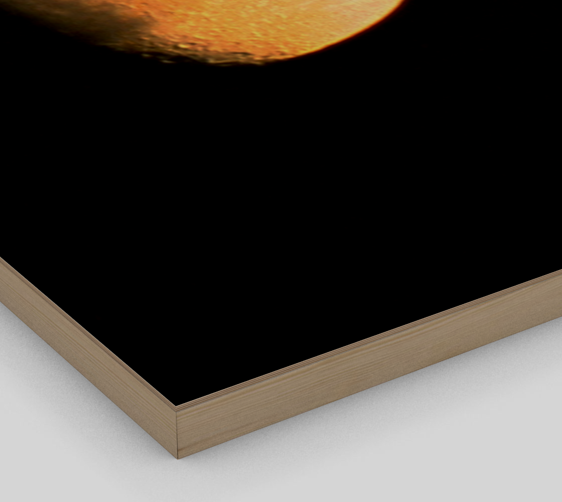 Big Old Moon Wood Print preview #3