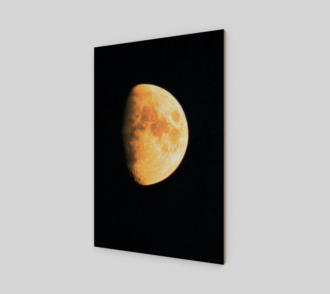 Big Old Moon Wood Print preview #2