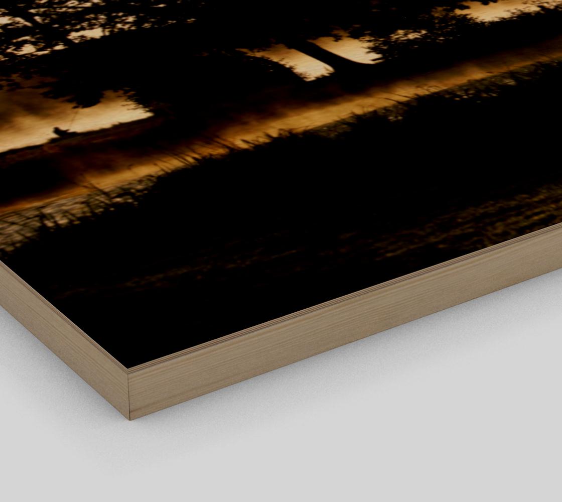 Morning Lake Scene Wood Print preview #3