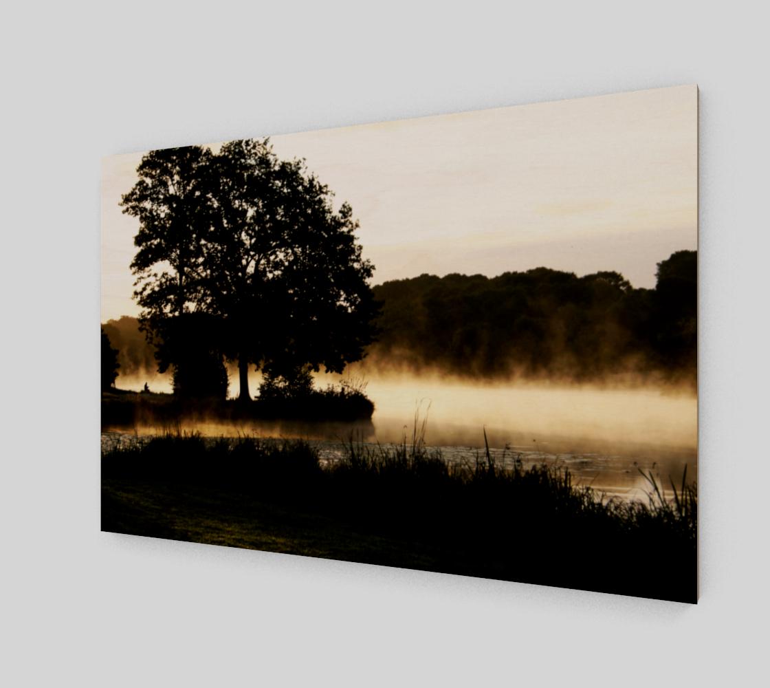 Morning Lake Scene Wood Print preview #2