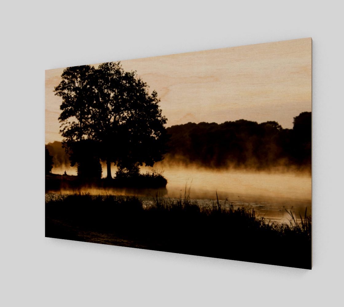 Morning Lake Scene Art Print preview #1