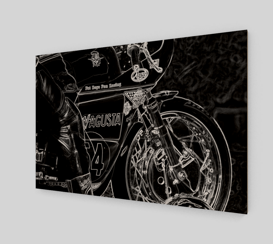 Motorcycle 1 Wood Print preview #2