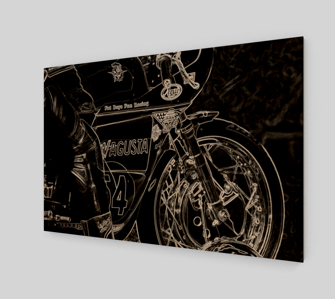 Motorcycle 1 Wood Print preview #1