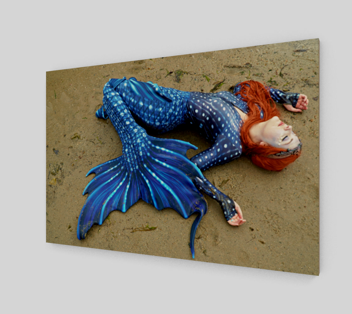 Stretched out Blue Mermaid preview #2