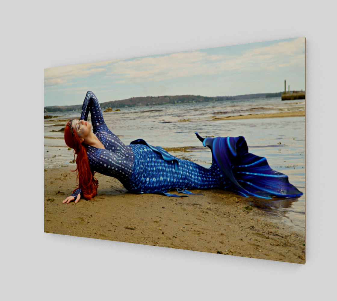 Sunning Mermaid in Blue preview #2
