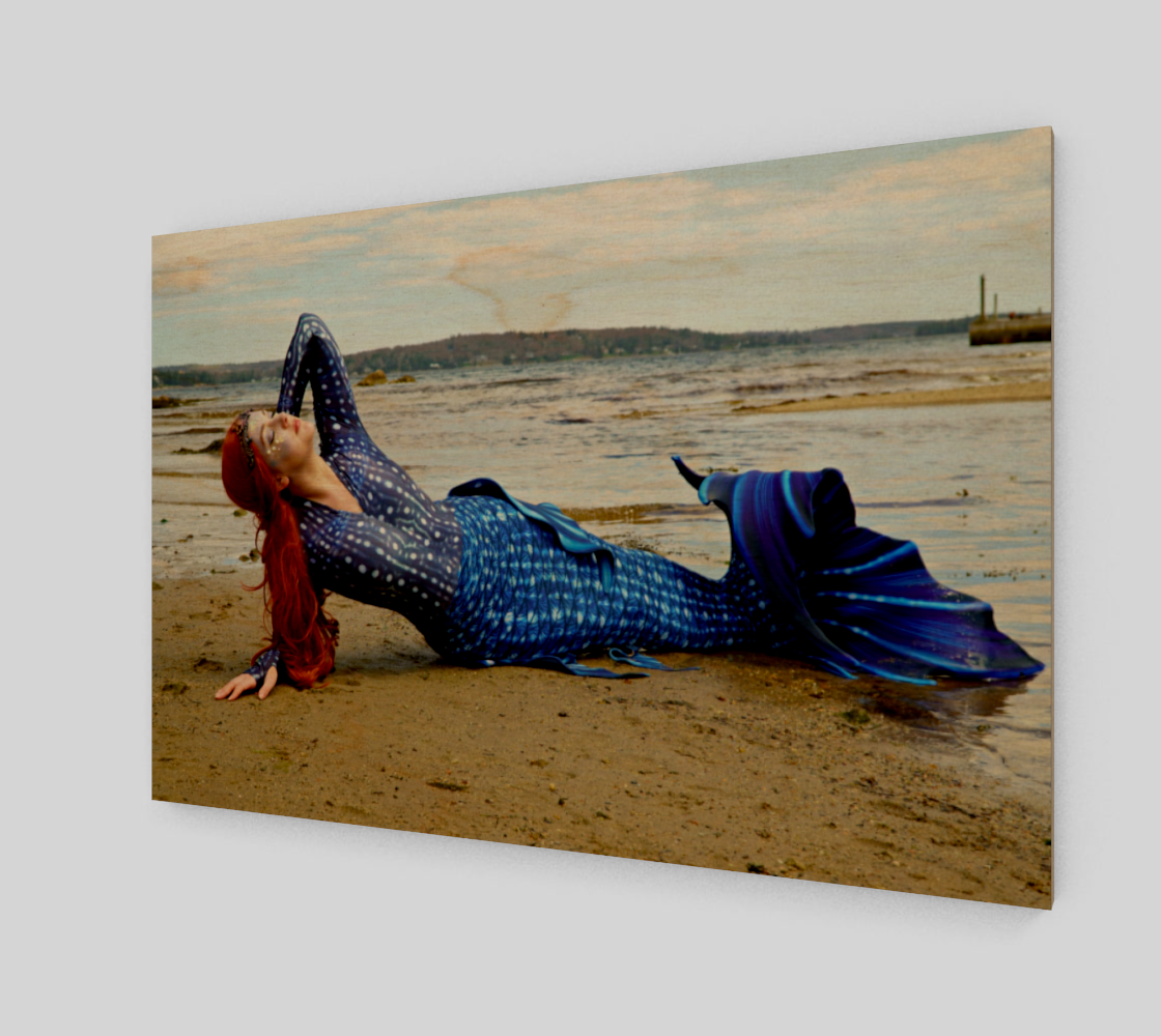 Sunning Mermaid in Blue preview