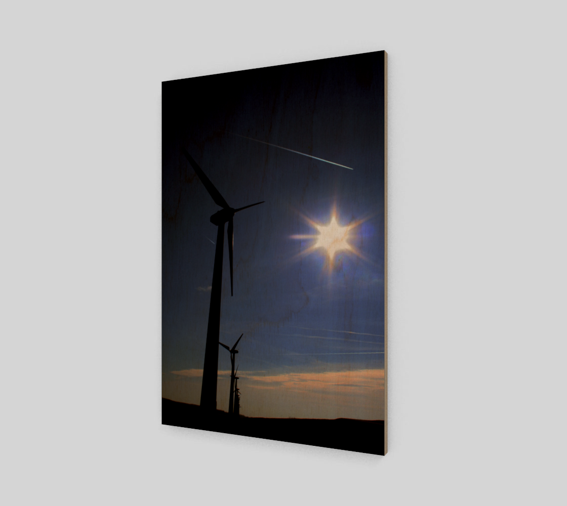 Windfarm and Blue Sky Poster Print preview