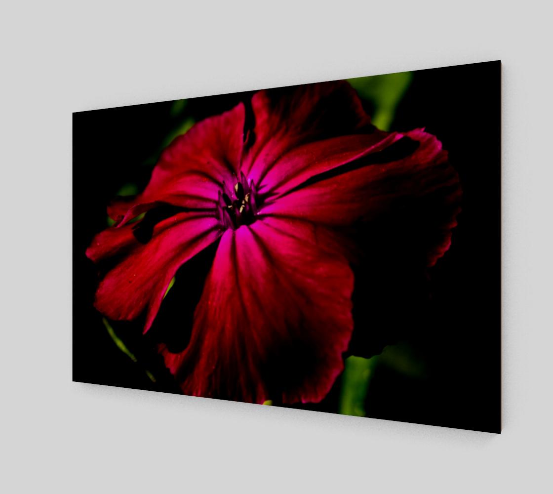 Purple Wild Flower Wood Print preview #2