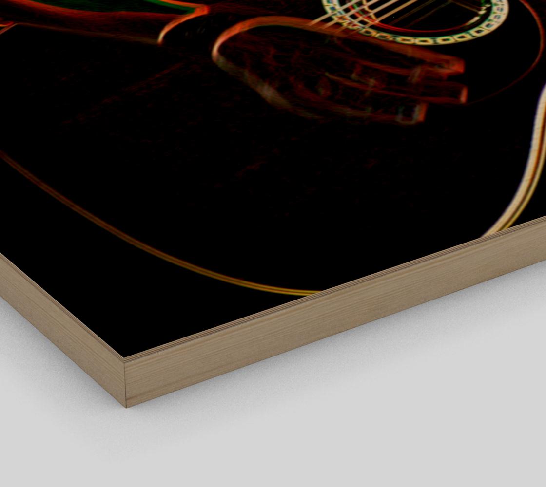 Guitar 1 Wood Print preview #3