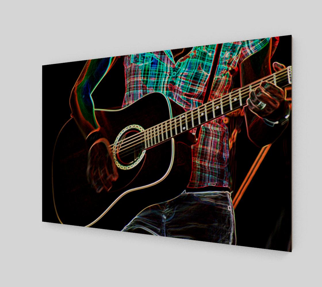 Guitar 1 Wood Print preview #2