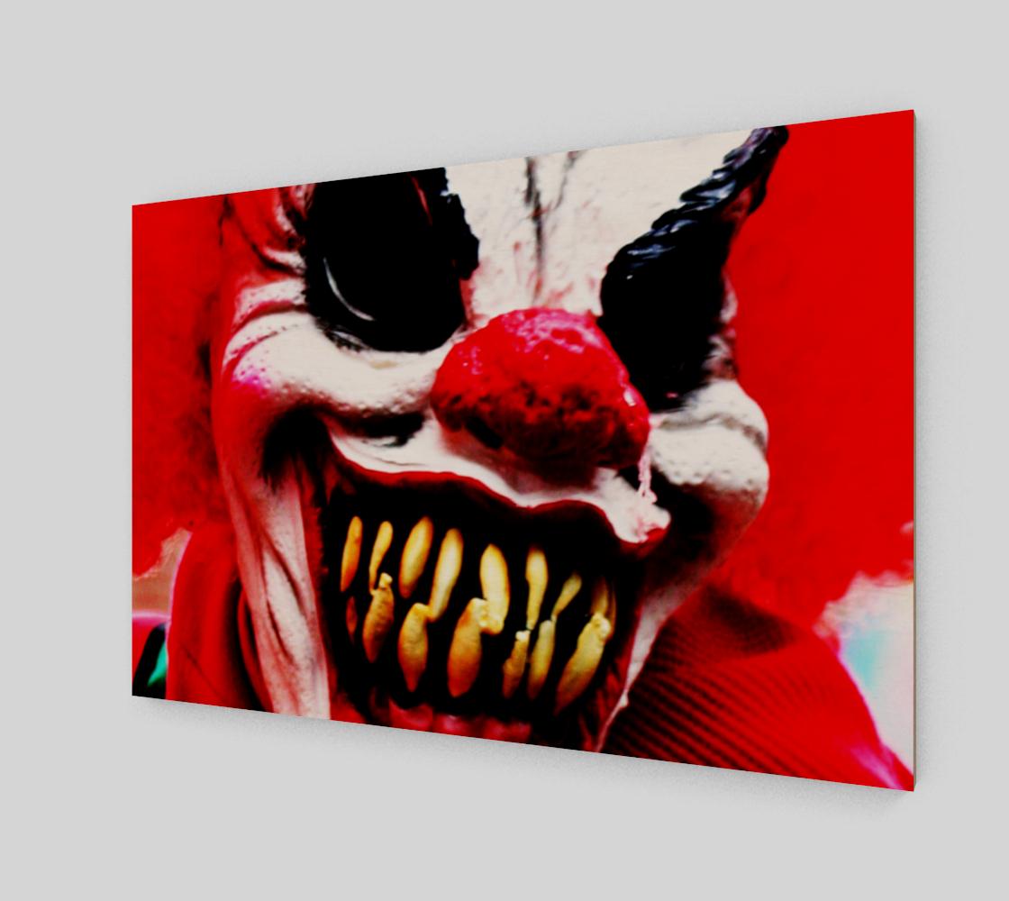 Aperçu de Clown 1 Wood Print #2