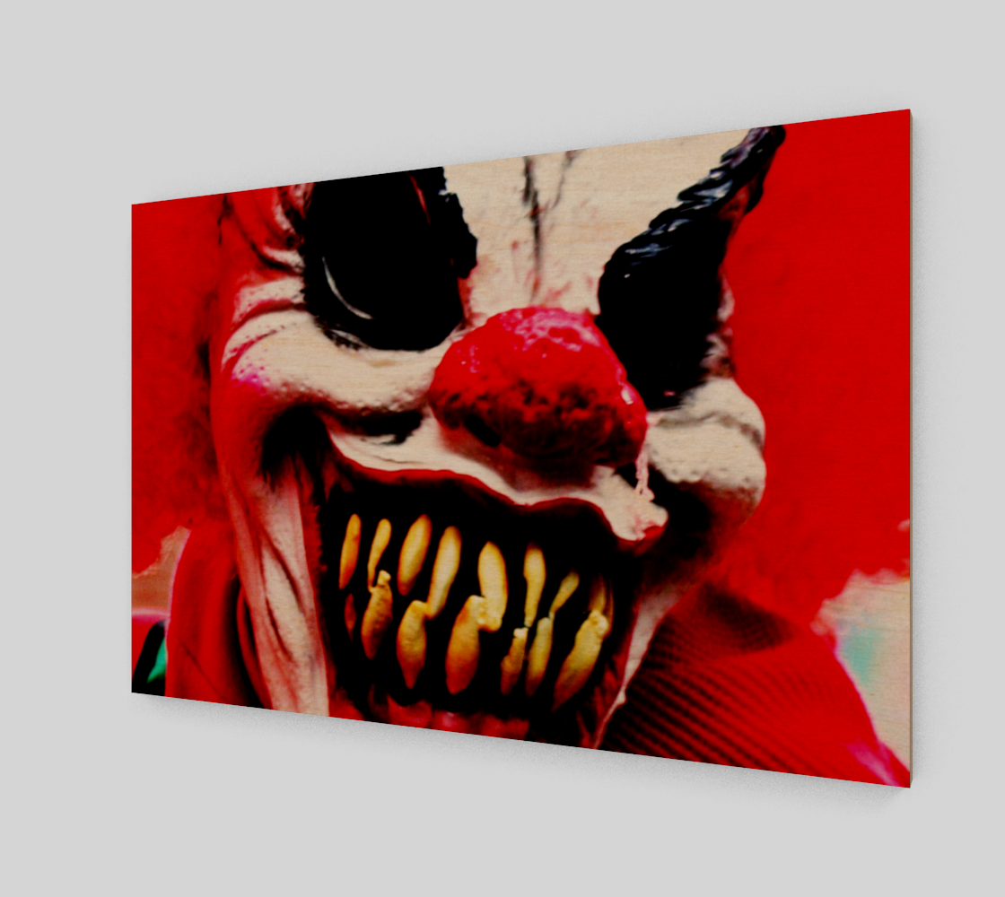 Clown 1 Wood Print preview