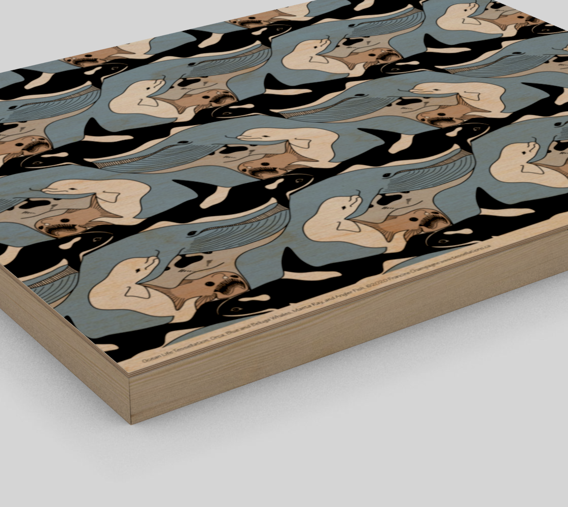 Ocean Life Tessellation by Francine Champagne preview #3