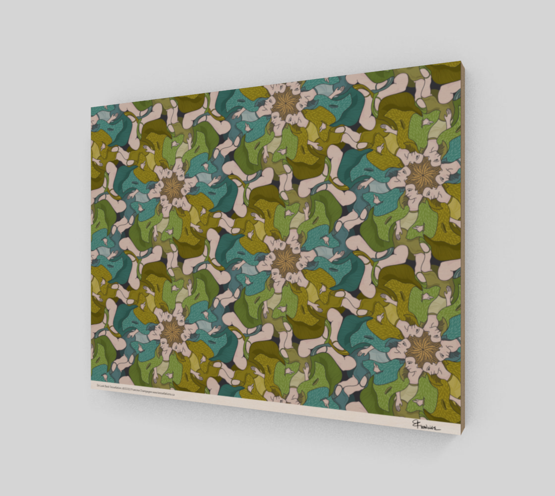 Do Look Back, a tessellation by Francine Champagne preview #2