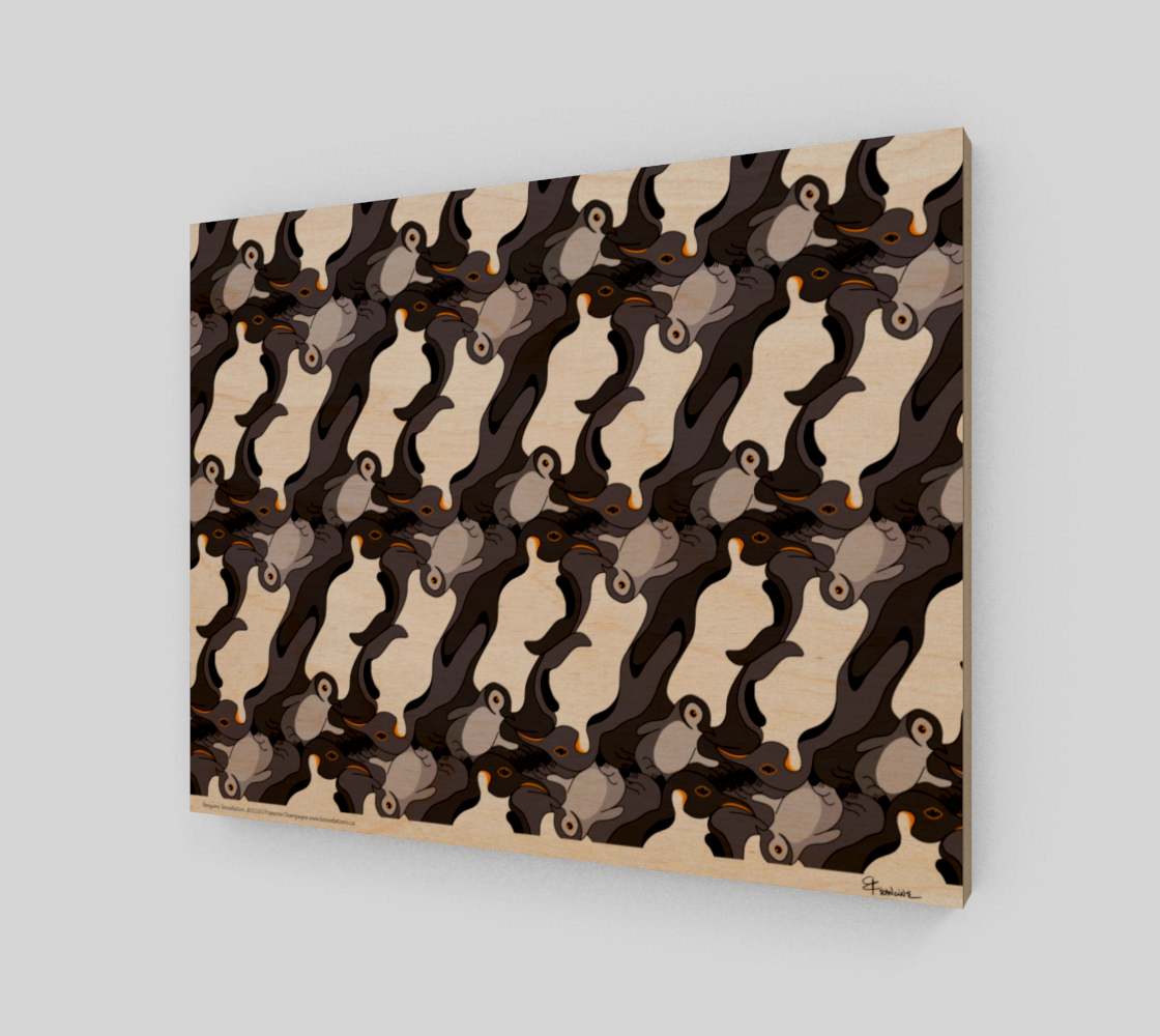Penguins, a tessellation by Francine Champagne preview