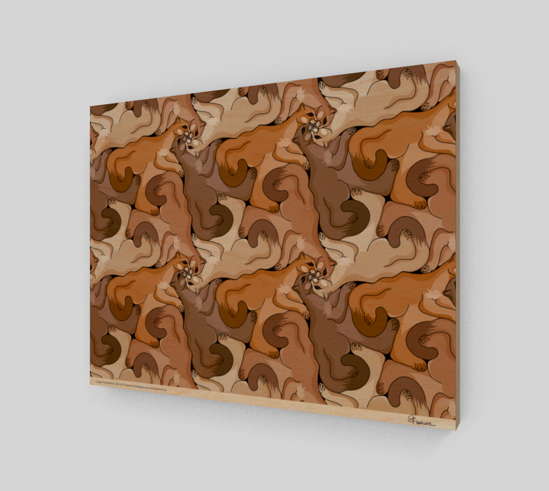 Cougars, a tessellation by Francine Champagne preview