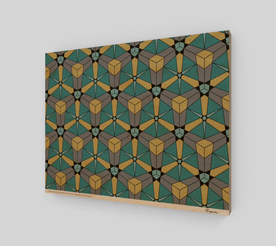 Mustansiriyan Inspired,  a tessellation by Francine Champagne preview