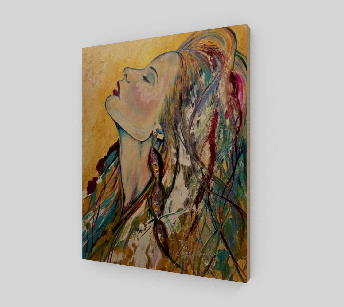 Aperçu de Sundrenched Wood Print