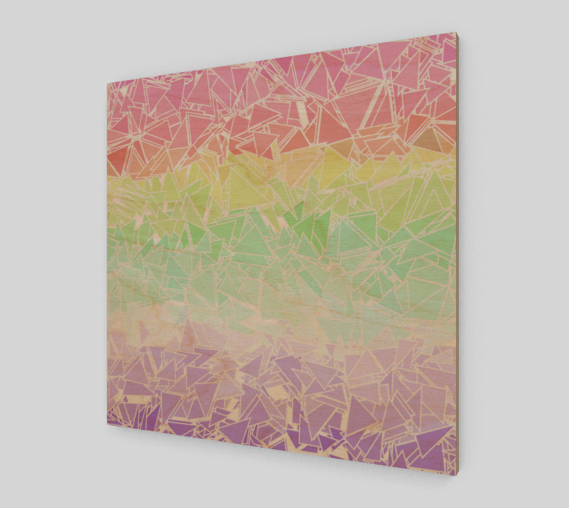 Groovy Boho Triangle Rainbow, 50% of profits donated to the Trevor Project! preview #1