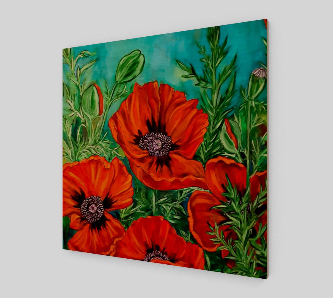 Aperçu de Big Bold Red Poppies Wall Art