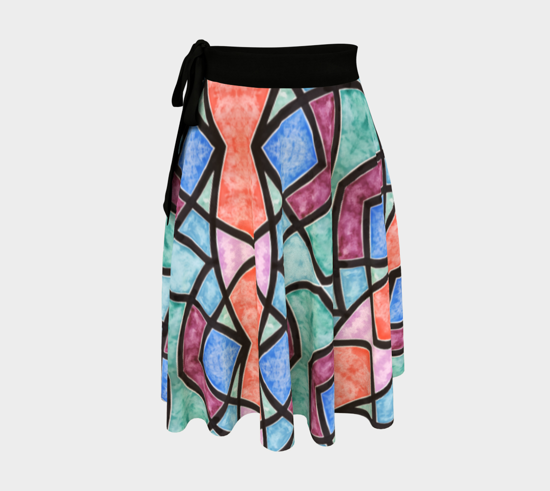 Colorful Stained Glass Wrap Skirt preview