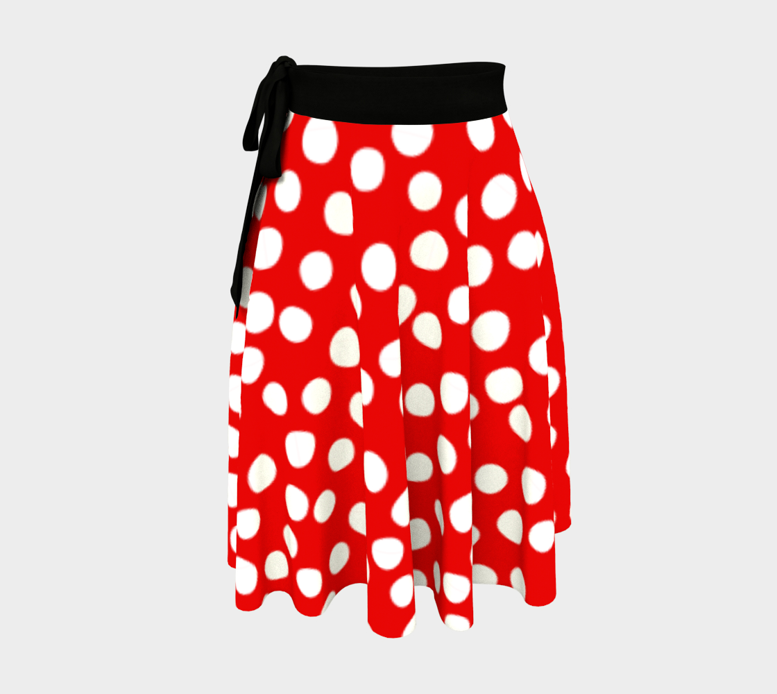 All About the Dots Wrap Skirt - Red preview