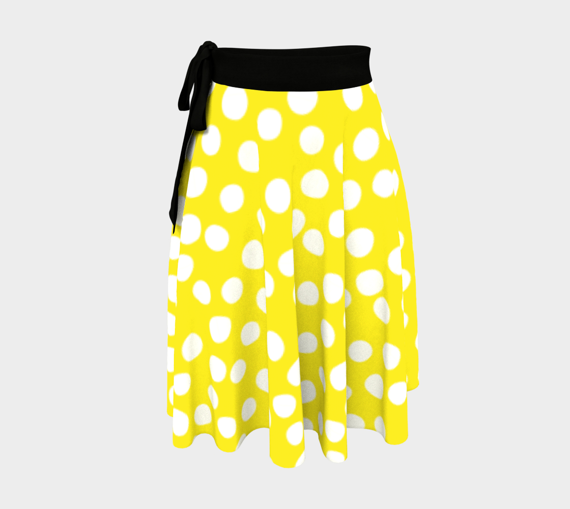 All About the Dots Wrap Skirt - Yellow preview