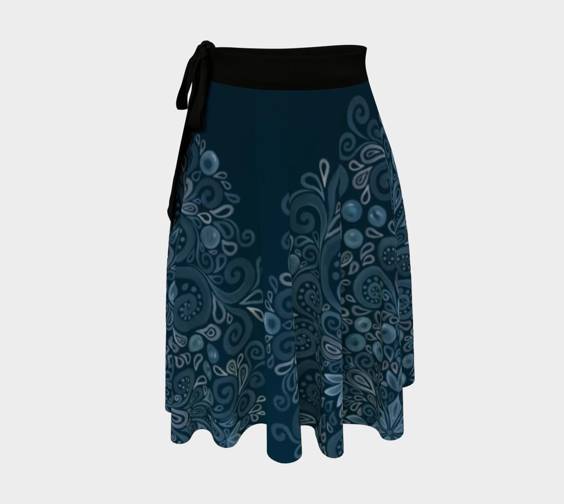 Aperçu de Blueberry Field Wrap Skirt