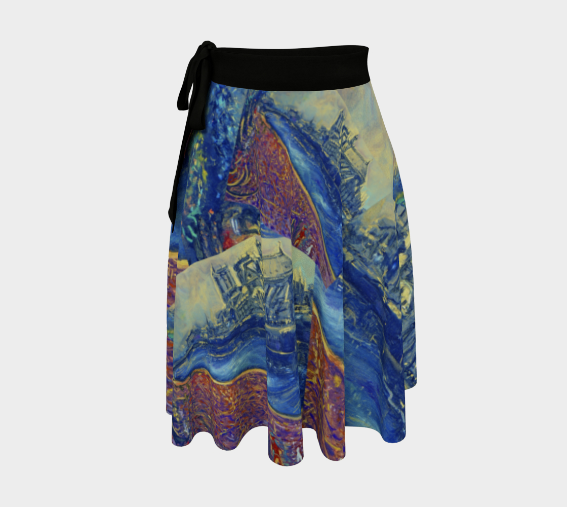 """""""Notre Dame Tribute: 4-15-19 by Lowell S.V. Devin"""" / Commemorative Wrap Skirt preview"""