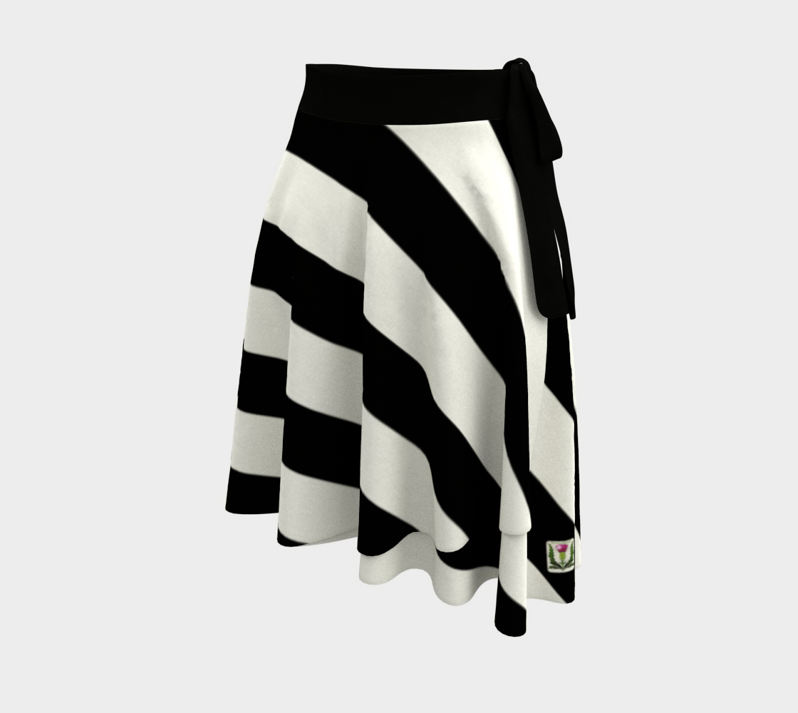Fairlings Delight's Black and White Wrap Skirt Collection 53086O7 preview #2