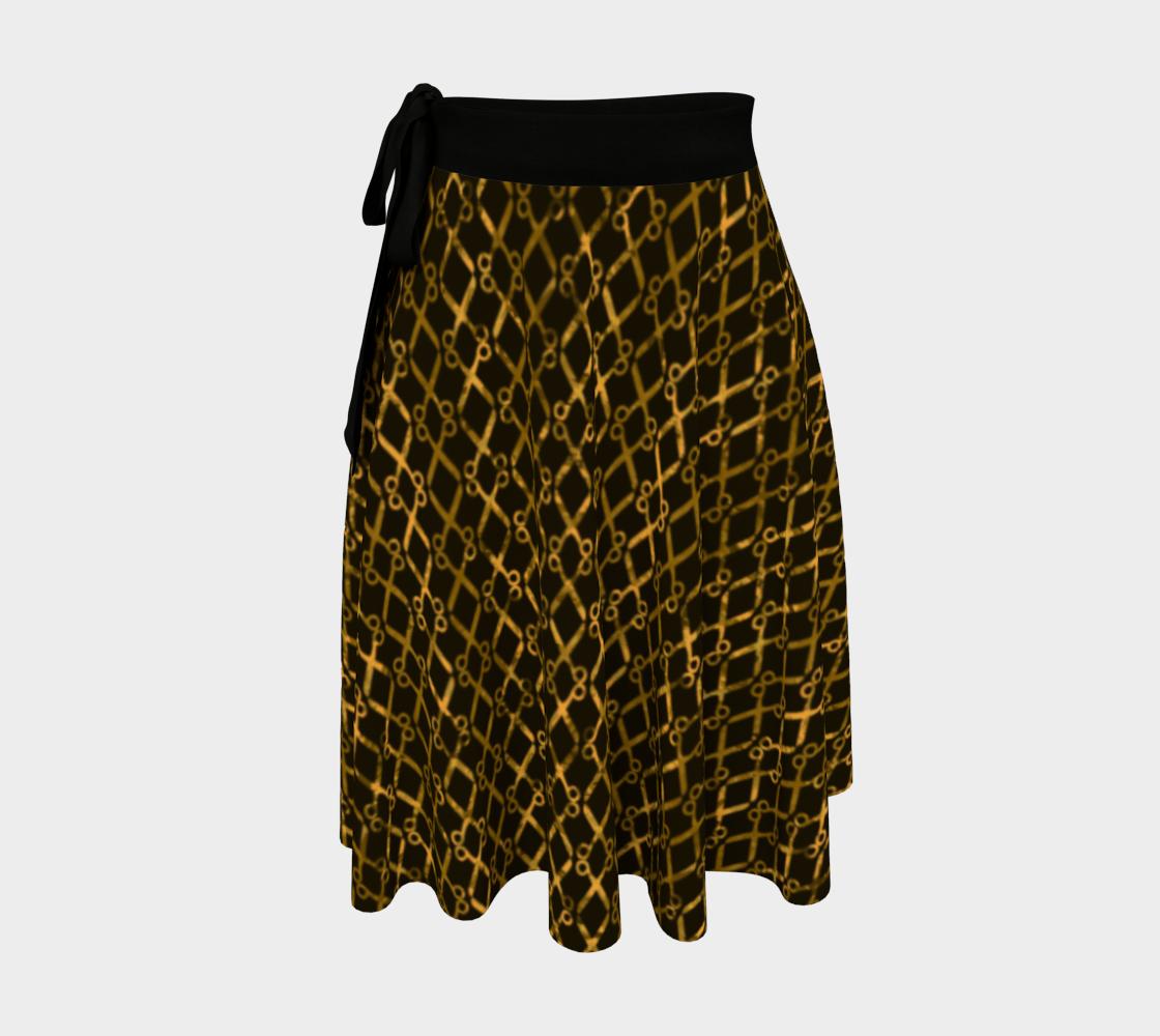 Golden Brown Scissor Stripes preview