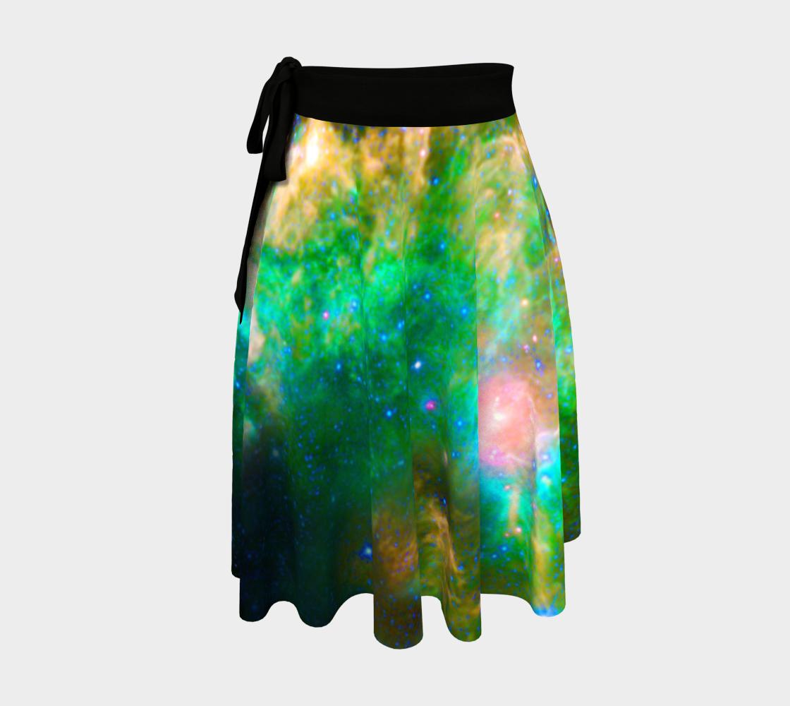 Cosmic Dreams - Emerald Nebula Wrap Skirt preview