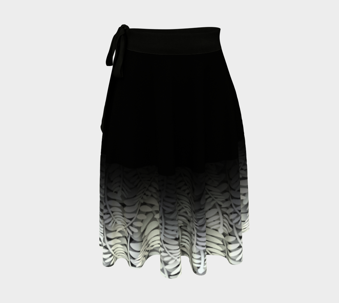 Black and White - Fern Wrap Skirt preview