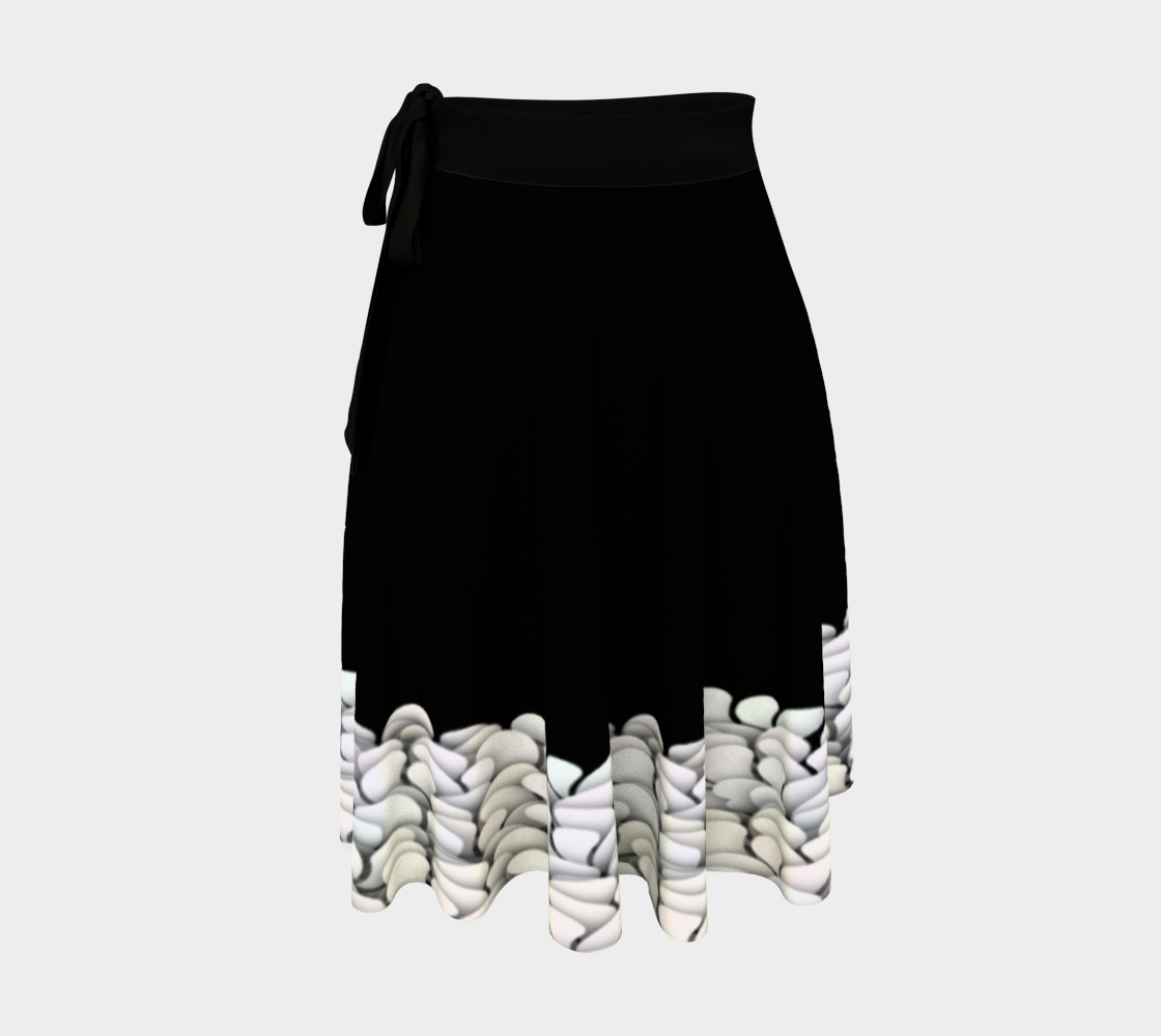 Black and White - Petals Wrap Skirt preview