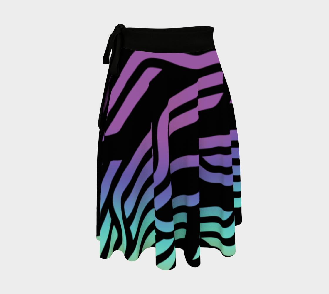 Geometrix - Cable Pastel Ombre Wrap Skirt preview