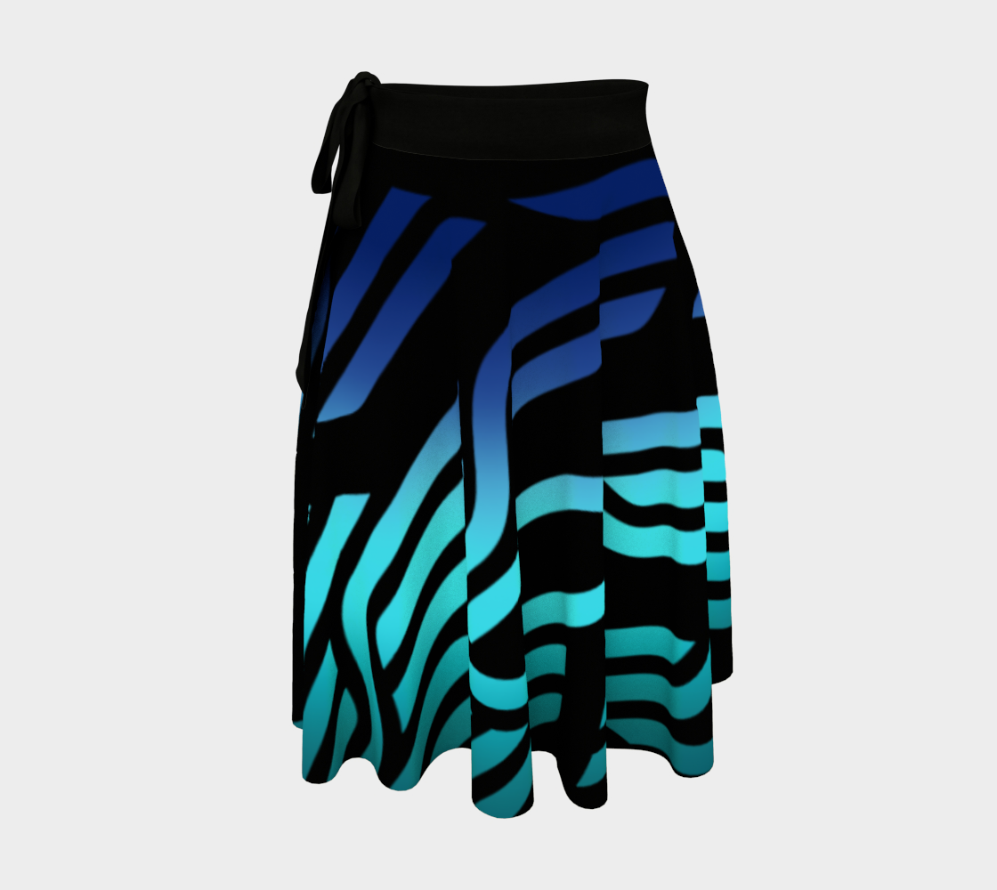 Geometrix - Cable Blue Ombre Wrap Skirt preview