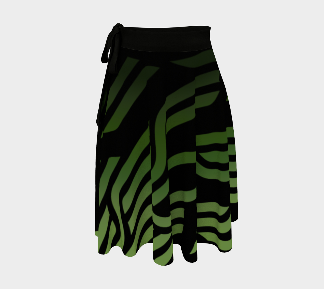 Geometrix - Cable Green Ombre Wrap Skirt preview