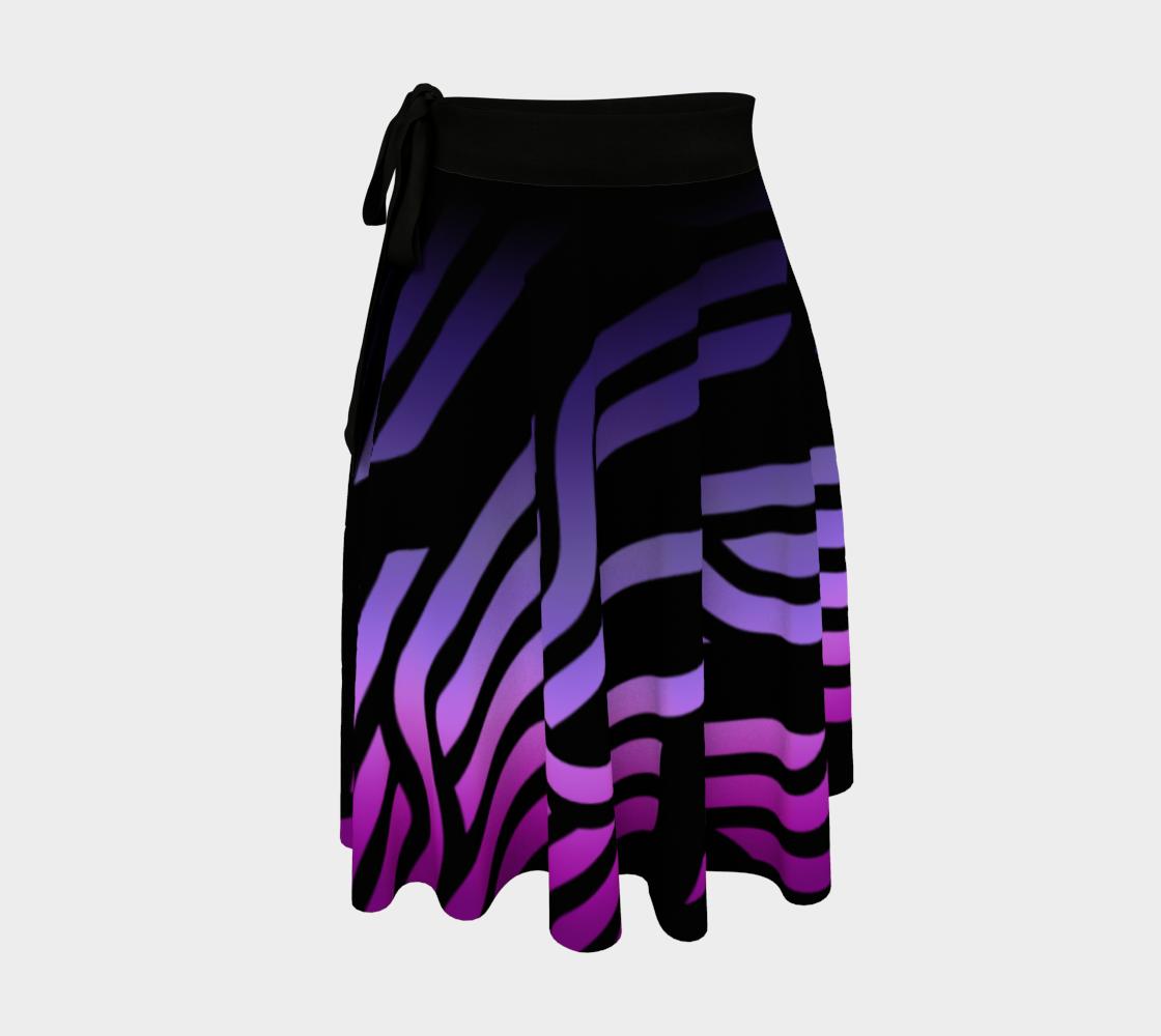 Geometrix - Cable Purple Ombre Wrap Skirt preview