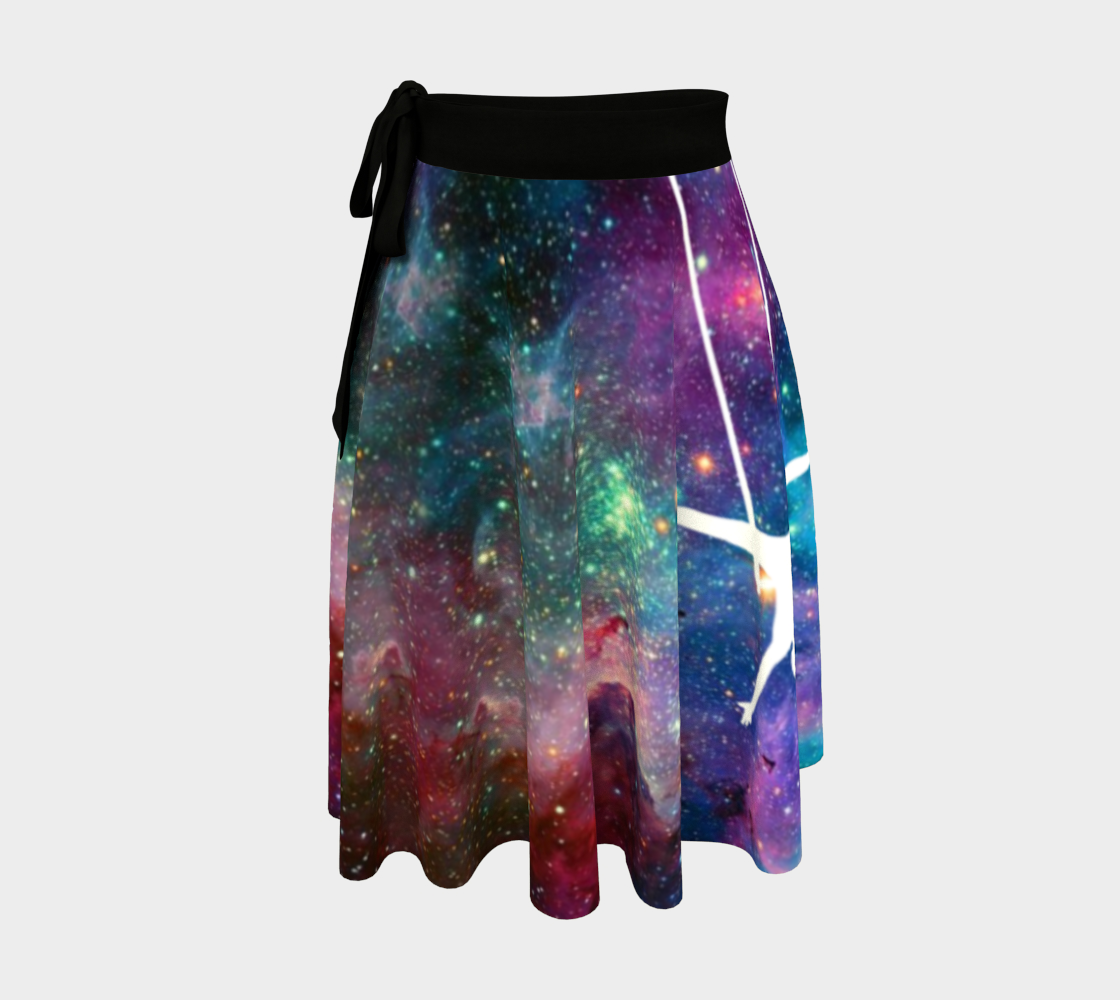 Aerial Stars Rainbow Wrap Skirt preview