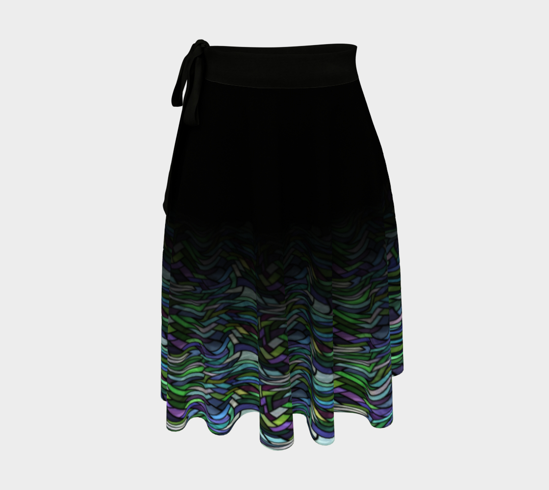 Stained Glass Ocean Wrap Skirt preview