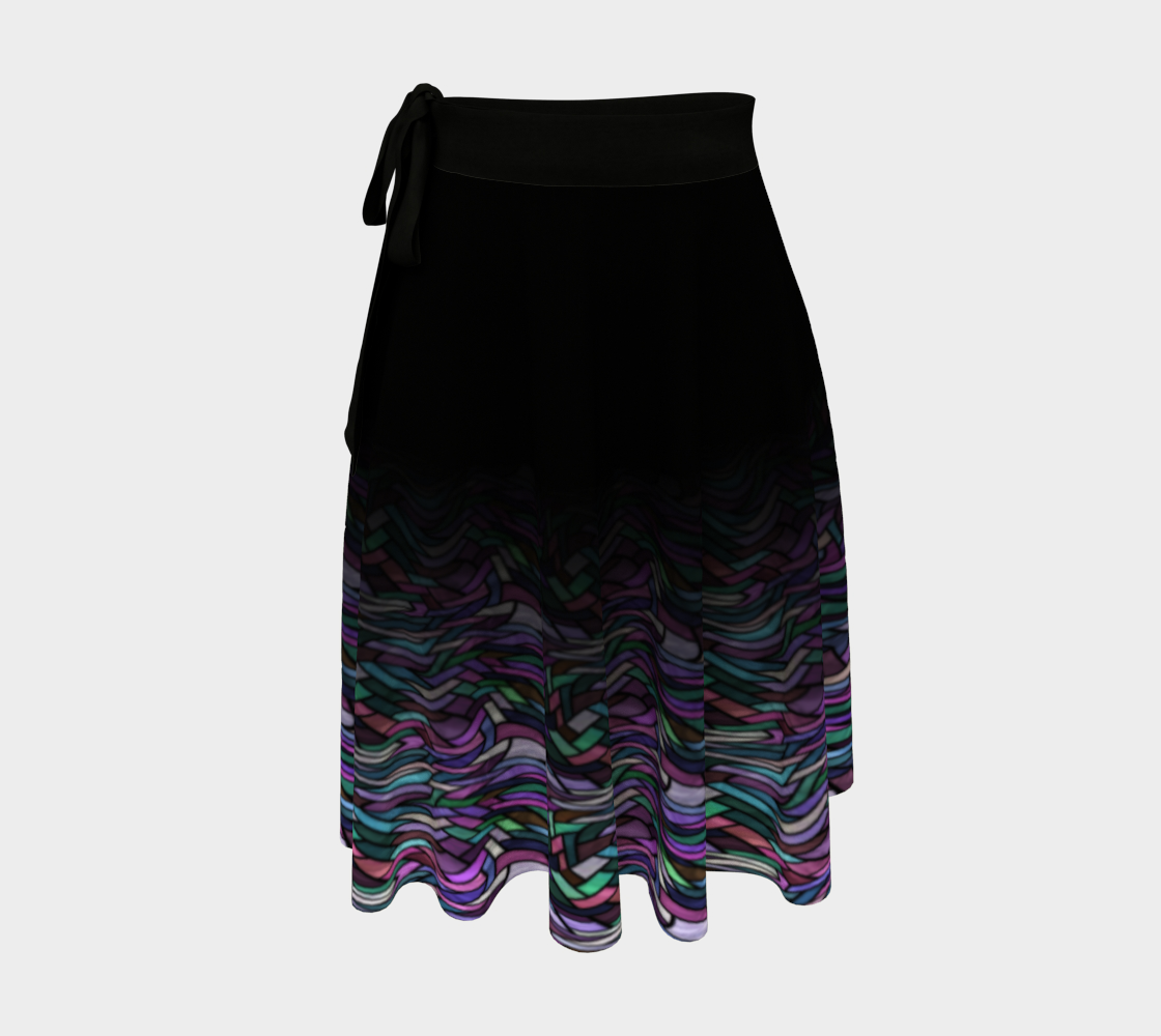 Stained Glass Lavender Field Wrap Skirt preview
