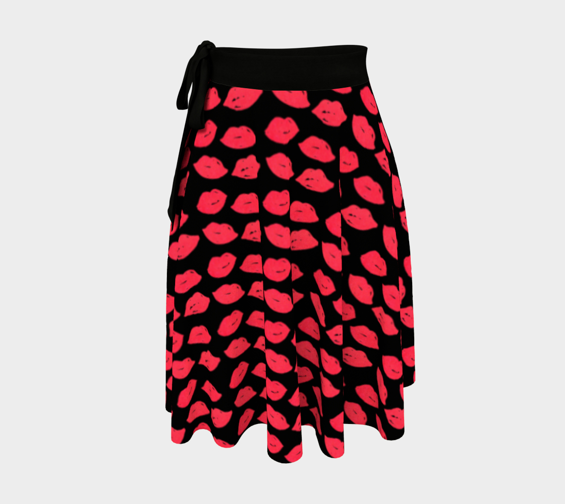 Lips Wrap Skirt preview
