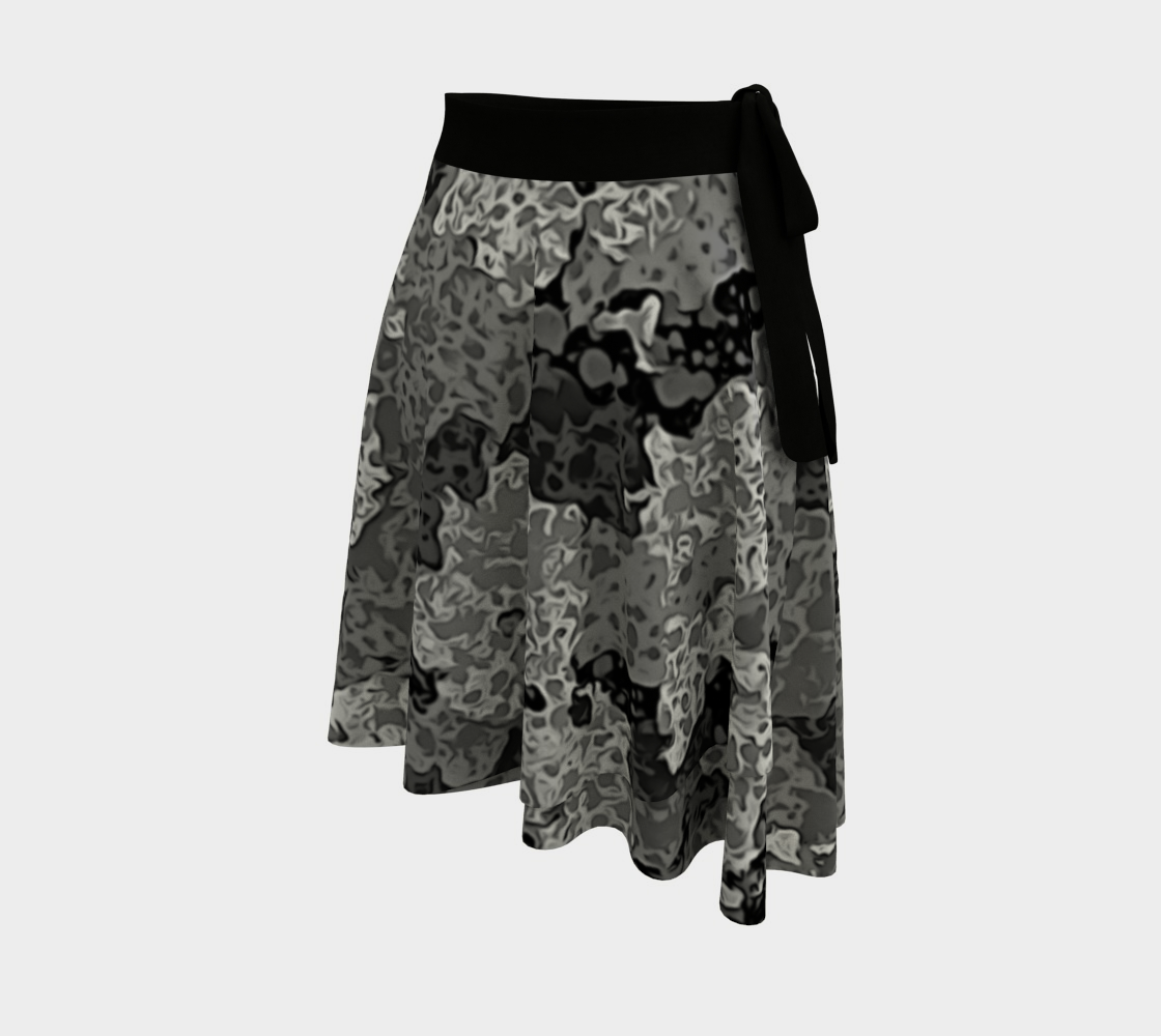 Size Small Gray Abstract Skirt