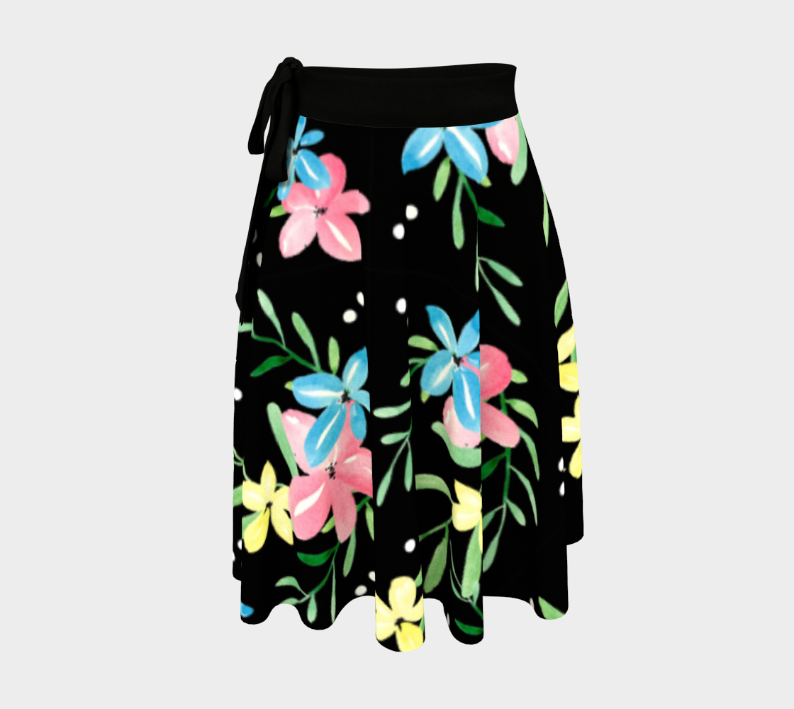 Floral Watercolor Wrap Skirt preview